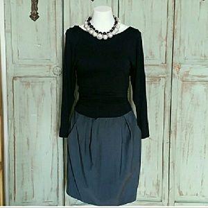 NWT Theory gray black dress